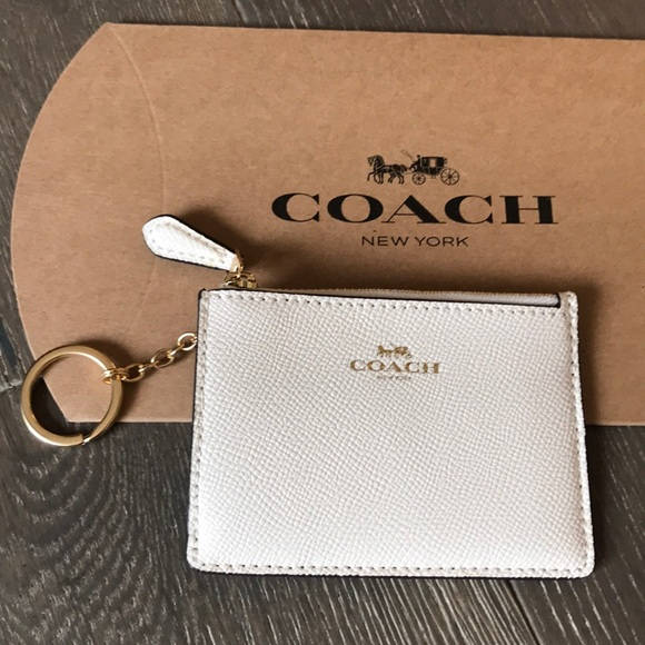 Coach Handbags - {COACH} Cardholder. Creamy white with gold detail.